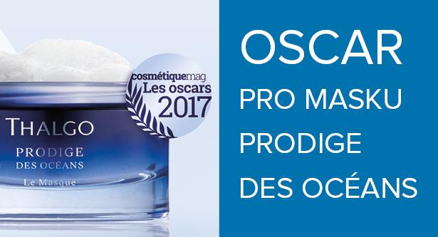 A máme jej doma! Prestižní kosmetický Oscar magazínu Cosmétiquemag získala pleťová maska Thalgo Prodige des Océans.