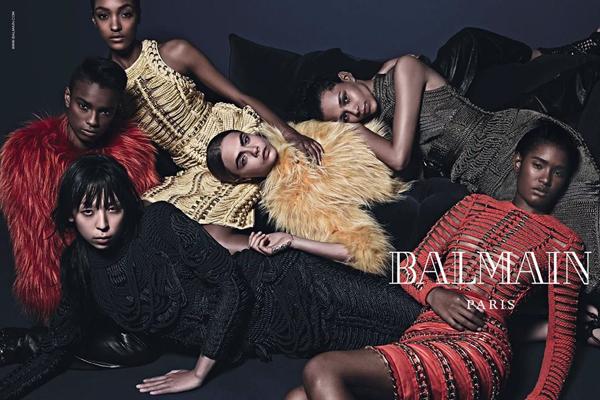 Armáda Balmain předvádí krásu různých etnik